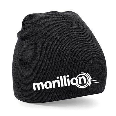 Marillion Knitted Beanie Hat Embroidered Logo